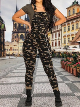 Camouflage Print Skinny Women's Jumpsuit