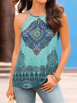 Print Polyester Women's Tank Top