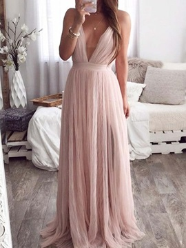 Backless Floor-Length Sleeveless Women's Dress