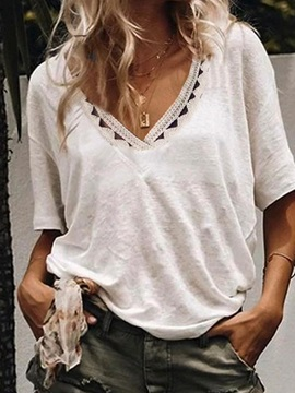 V-Neck Casual Loose Women's T-Shirt