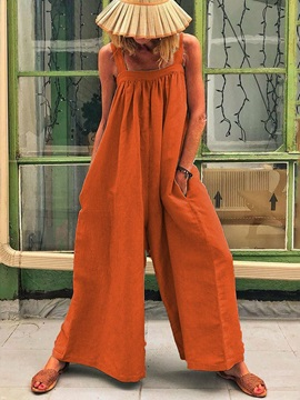 Casual Full Length Strap High Waist Loose Women's Jumpsuit