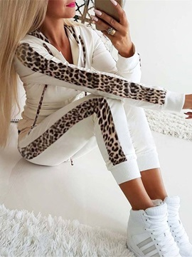 Casual Ankle Length Leopard Women's Two Piece Sets
