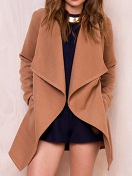 Loose Wrapped Mid-Length Women's Overcoat