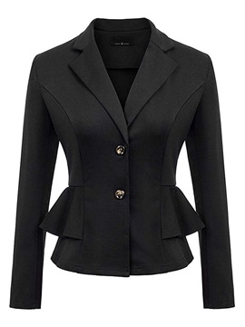 Notched Double-Breasted Regular Mid-Length Women's Casual Blazer