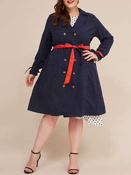 Double-Breasted Mid-Length Women's Overcoat