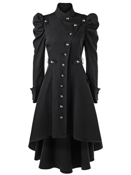 Stand Collar Single-Breasted Long Fashion Slim Women's Trench Coat
