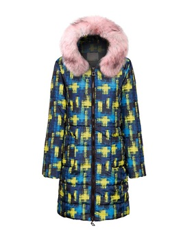 Patchwork Loose Long Women's Cotton Padded Jacket