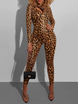Print Ankle Length Sexy Skinny Pencil Pants Women's Jumpsuit