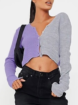 Regular Button Single-Breasted Long Sleeve Fall Women's Sweater