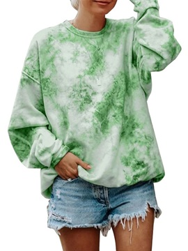 Regular Print Camouflage Round Neck Long Sleeve Women's Hoodie