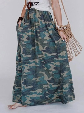 Camouflage A-Line Pocket Casual Women's Skirt