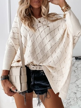 Batwing Sleeve Thin Hollow Loose Long Sleeve Women's Sweater