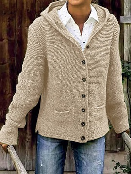 Button Single-Breasted Thick Loose Long Sleeve Women's Sweater