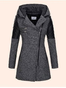 Patchwork Slim Thick Mid-Length Women's Cotton Padded Jacket