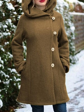 Single-Breasted Slim Regular Mid-Length Winter Women's Overcoat