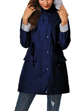 Mid-Length Zipper Zipper Fall Casual Women's Trench Coat