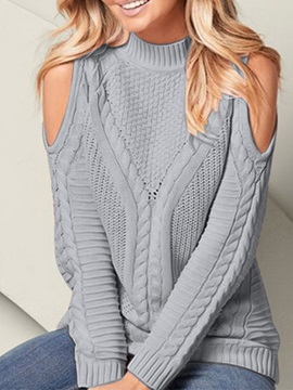 Patchwork Thin Fall Slim Women's Sweater