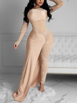 Party/Cocktail Full Length Diamond Culottes Skinny Women's Jumpsuit