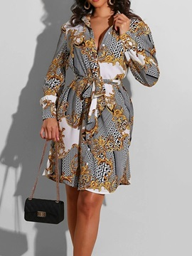Long Sleeve Patchwork Above Knee Fall Bodycon Women's Dress