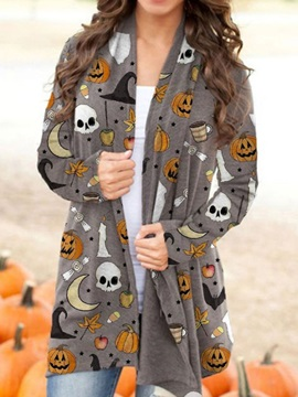 Halloween Wrapped Loose Long Sleeve Mid-Length Spring Women's Jacket