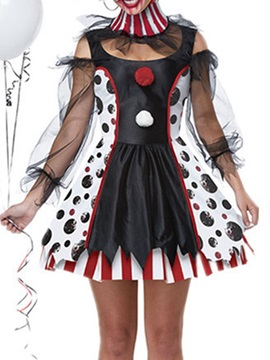Mesh Nine Points Sleeve Western Scary Summer Women's Costumes
