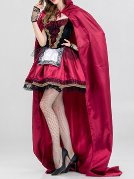Color Block Bowknot Sweet Fall Classic Halloween Women's Costumes