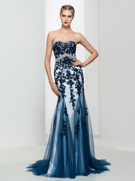 Classy Sweetheart Appliques Beading Mermaid Evening Dress & Formal Dresses from china