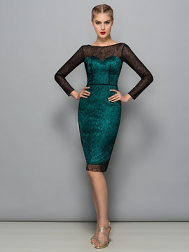 Sexy Backless Long Sleeve Beading Sheath Lace Formal Dress & Formal Dresses from china