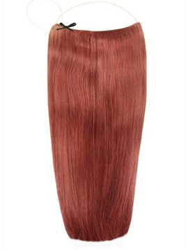 Dark Auburn #33 Straight Human Hair Flip In Hair Extension