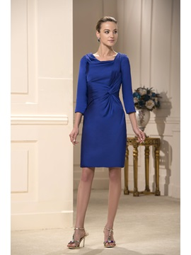 Gorgerous Sheath Ruched A-Line Square Neckline Knee-Length Mother Dress & Mother of the Bride Dresses under 300