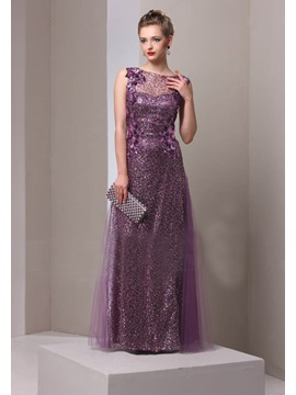 Classy Jewel Neck Sequin Long Mother of the Bride Dress & Mother of the Bride Dresses on sale