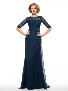 Beaded Half Sleeve Mother of the Bride Dress & Mother of the Bride Dresses from china