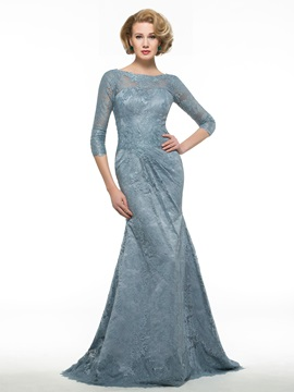 Bateau Neck Half Sleeve Mermaid Lace Mother of the Bride Dress & Mother of the Bride Dresses online