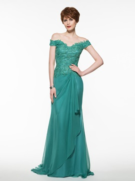 Off-The-Shoulder Lace Sheath Mother Of The Bride Dress & Mother of the Bride Dresses from china