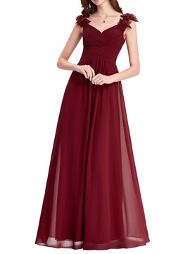 Simple Straps A Line Long Mother of the Bride Dress & Mother of the Bride Dresses under 300