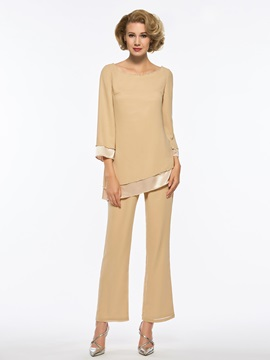 Sequined Scoop Neck Long Sleeves Mother of the Bride Jumpsuit & Mother of the Bride Dresses under 500