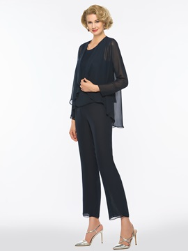 Scoop Neck Mother of the Bride Jumpsuits with Jacket