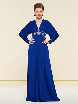 Empire Waist Beading Long Sleeve Mother of the Bride Dress & formal Mother of the Bride Dresses