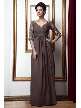 Empire Waist Appliques Pleats Mother of the Bride Dress & attractive Mother of the Bride Dresses