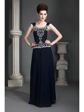 Attractive Sheath Square-Neckline Floor-Length Alex's Mother of the Bride Dress & Mother of the Bride Dresses under 500