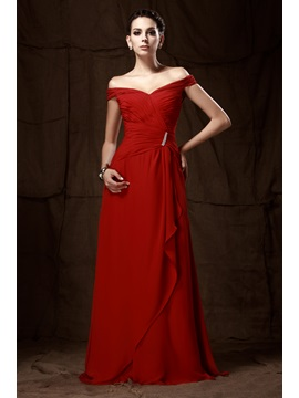 A-line Floor-length Off- the-shoulder Taline's Mother of The Bride Dress & casual Mother of the Bride Dresses