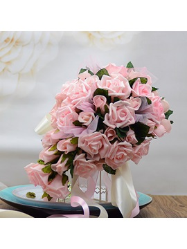 Delicate Pink Pe Water Rose Bouquet Wedding Bridal Bouquet