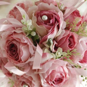 Light Pink Silk Cloth Wedding Bridal Bouquet