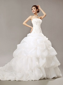 Gorgeous Mermaid Beading Chepal Train Scoop Wedding Dress & modern Wedding Dresses