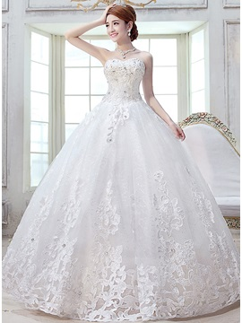 Dazzling Beaded Sweetheart Lace Floor Length Ball Gown Wedding Dress & vintage style Wedding Dresses