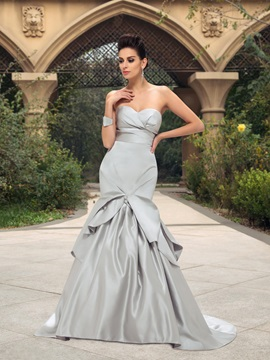 Dazzling Ruched Sweetheart Ruffles Mermaid Wedding Dress & Wedding Dresses on sale
