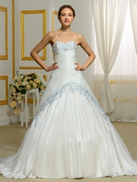 Sweetheart Beading Embroidery Color Wedding Dress & fairy Wedding Dresses