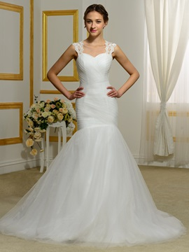 Sweetheart Detachable Straps Mermaid Wedding Dress & Wedding Dresses for sale