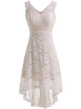 High Low Lace Beach Wedding Dress & casual Wedding Dresses