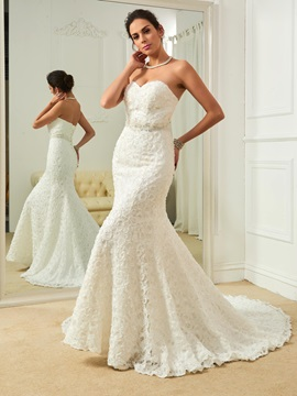 Classic Sweetheart Beaded Mermaid Lace Wedding Dress & Wedding Dresses 2012